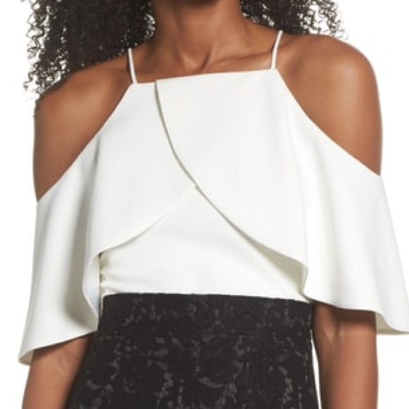 f967c673ecc Eliza J Tops | Ruffle Crepe Cold Shoulder Top | Poshmark